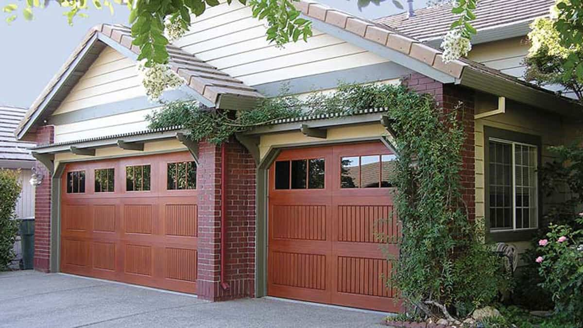 unique double garage doors