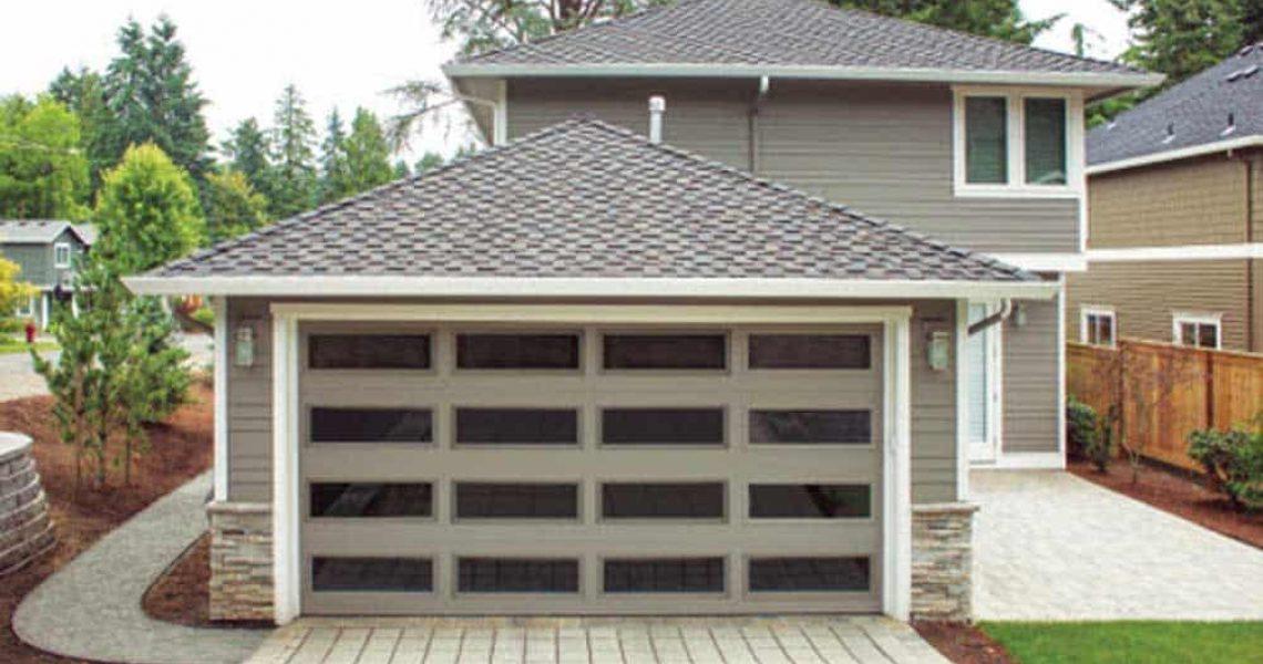 residential garage door all windows