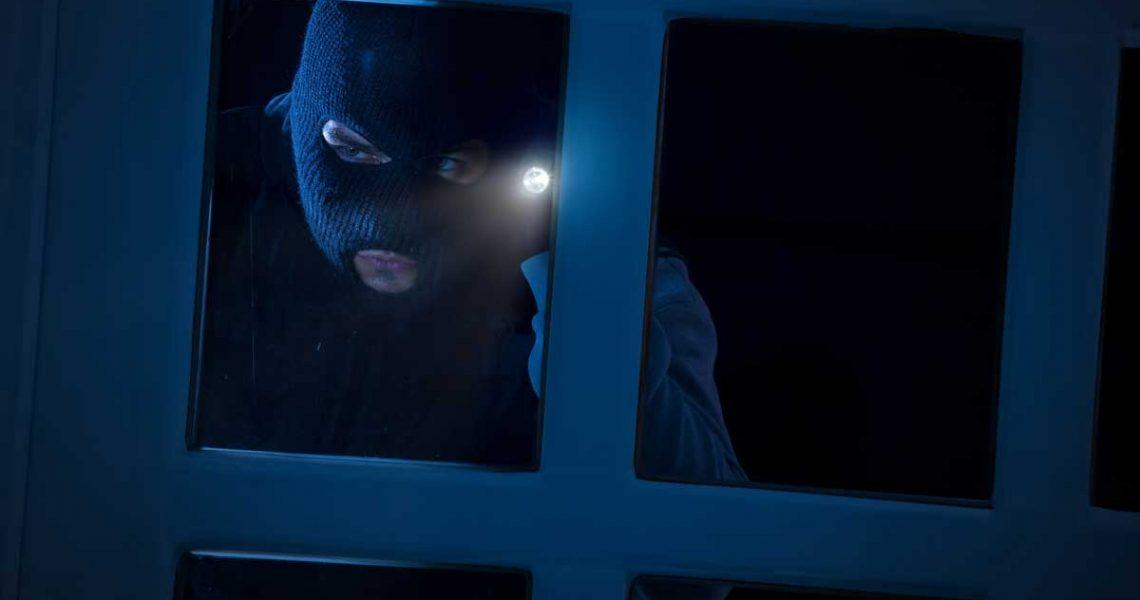 burglar looking in window