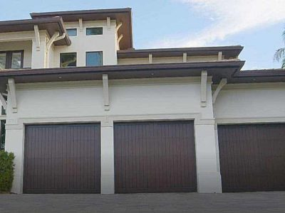 3 car garage door on large home